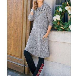 Soft Surroundings Softie Weekend Cozy Gray Dress